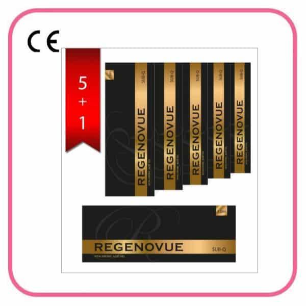 Kwas Hialuronowy Regenovue Fine 1,0ml Zestaw 5+1 Gratis